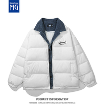 2021 Winter new fake two padded padded coat female Korean student loose down cotton jacket bread suit