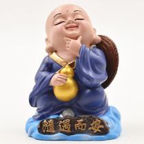 Xiangyun Petit Moine ornements artisanat populaire sculpture en argile Huishan argile homme chinois vent à létranger cadeaux souvenirs