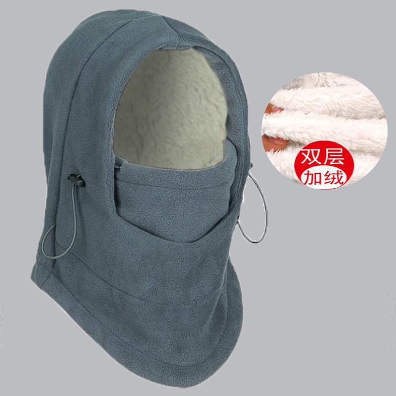 Hat female autumn and winter ear protection bike cap plus velvet thick winter northeast cold wind hat man