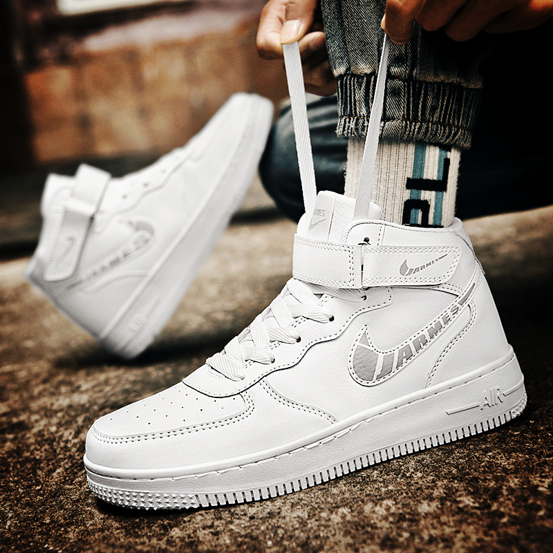 Genuine official website aj1 air force one men's shoes love Nike women's shoes high-top shoes basketball shoes lovers af1 sports shoes
