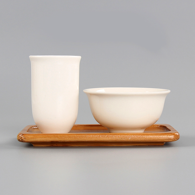 Special Offer Kung Fu Tea Set Tea Cup Tasting Cup Ceramic Tea Cup Smell Cup Lard White Pure White Porcelain Cup