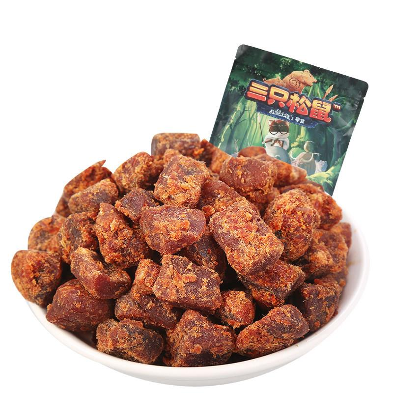 Three squirrel beef granules 110g separate small package XO sauce Spicy beef jerky casual snack