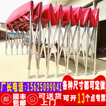 Custom push-pull awning Large warehouse telescopic tent Barbecue late-night parking mobile event food stall awning