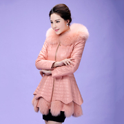 The new winter fur in the long fur and leather jacket Haining imitation fox fur coat