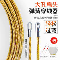 The wire-through electrician artifact is a wire-pulling lead-puller wire wire wire wire dark pipe string pipe-through pipe