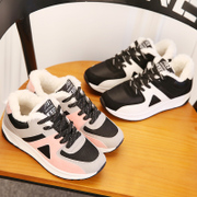 Ladies winter 2017 new Korean all-match sports shoes and cotton shoes and leisure students fall flat shoes
