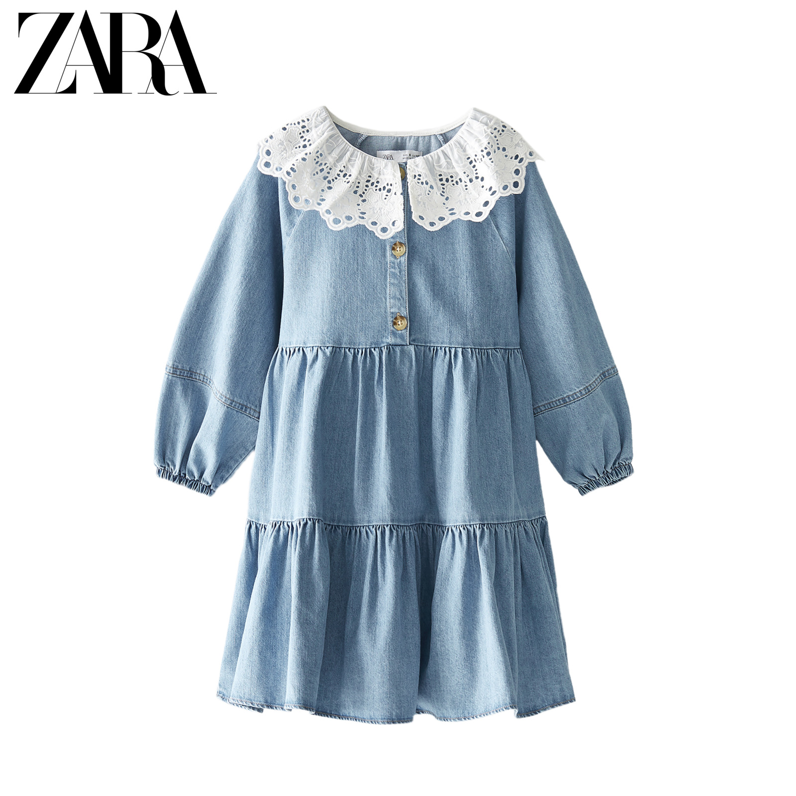 Zara new children's wear girl's jeans doll dress 05216601400