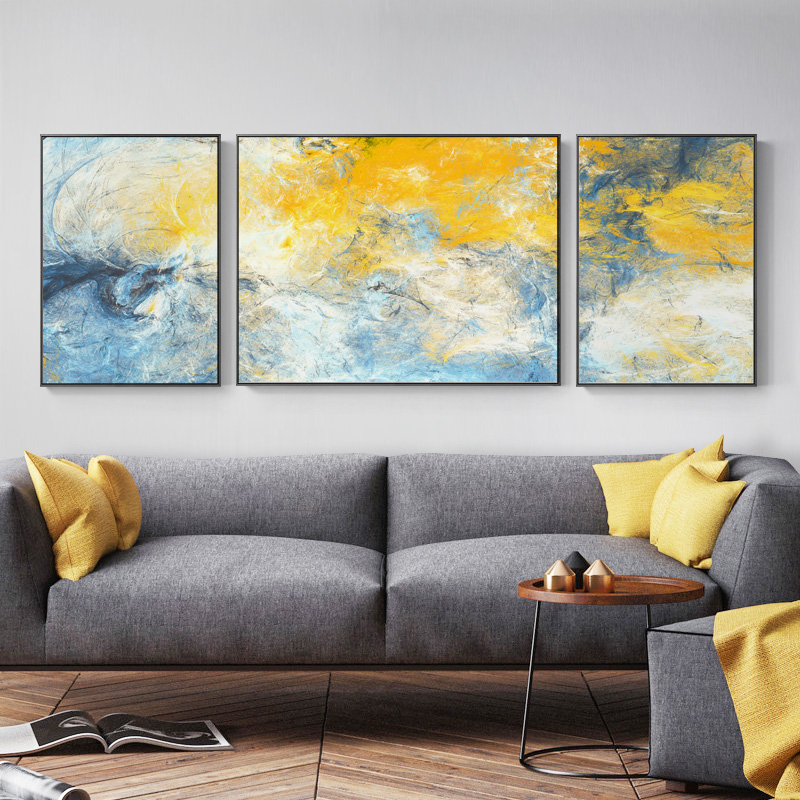 Abstract Living Room Decoration Painting Nordic Sofa Background Oil Painting Large Size Simple Fashion Atmospheric Modern Style Wall Painting