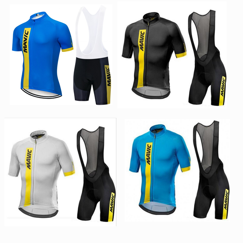 19 New Customized Summer Mavic Cycling Suit for Men and Women with Short Sleeve Backstrap Suit for Express Dry Mountain Self-propelled Highway Suit