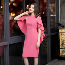 2021 Spring and summer Europe and the United States luxury socialite small evening dress Wedding emcee hosted dress birthday high-end party