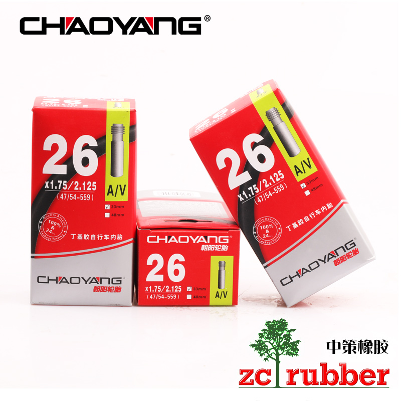 Chaoyang MTB inner tube 26 inch * 1.75 1.95 2.0 2.1 2.125 Bicycle tire single tire