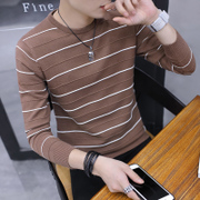 Men's T-shirt sweater cashmere sweater coat plus Korean slim Mens autumn winter sweater sweater thick tide