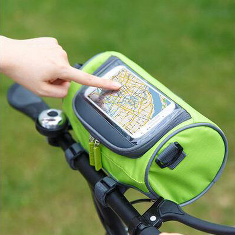 Bicycle handbag folding bicycle forehead package dead flying bicycle front mobile phone bag ride navigation packaging storage bag
