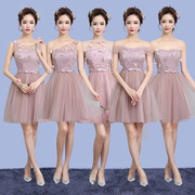 The new spring and summer 2017 bridesmaids dresses short wedding dress dress party dress will host