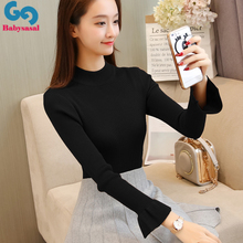 Winter pullover sweater female knit long sleeve bottom shirt