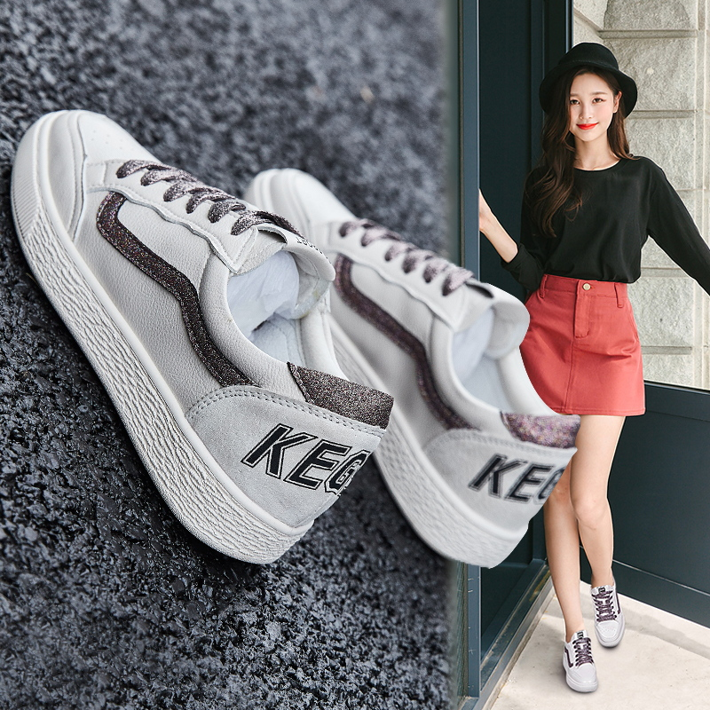 Little white shoes female spring 2019 new Korean version of chic, women's shoes, casual shoes