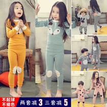 Девушки нижнее белье комплект хлопок дети осень и зима главная одежда мальчики пижамы хлопок свитер детские осенние брюки тепло