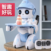 Yingjia intelligent programming early education induction dialogue Girl dancing Remote control robot 3-6 years old boy toy children