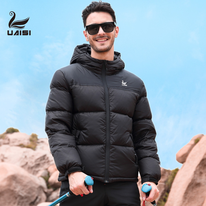 American UAISI Winter Down Garment White Down Garment 2019 Winter Down Garment Outdoor Skiing for Men and Women in Autumn and Winter Down Coat