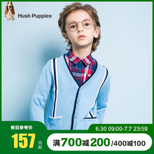 Hush Puppies children's sweater cardigan autumn fashion wear children's shirt sweater jacket