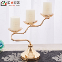 Candleholder Creative European Candlelight Dinner Projects Romantic American Retro Iron Art Copper Plated Table Jewelry