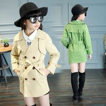 In a girl trench coat long coats spring 2017 new childrens clothes children jacket children casual coat with belt
