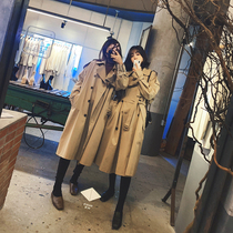 French house 2020 spring fried street coat female small British style Korean version of loose chic in the long section of the windbreaker