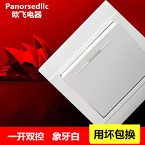 Europe flying 86 type concealed wall switch socket panel an open double control a double double control lamp switch button