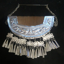 Hair Comb Miao Silver Headdress Ethnic Dance Performing Dress Headdress for Adults and Children