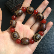 Tibet straight three fidelity eye beads bracelets natural agate chalcedony beads special offer material on hand