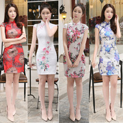 2017 the new style of young girls dressed in the new style of the Han Dynasty to improve the traditional dress of the short dress