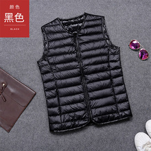 2017 large size light winter men's collarless down jacket V-neck vest waistcoat casual wear clearance