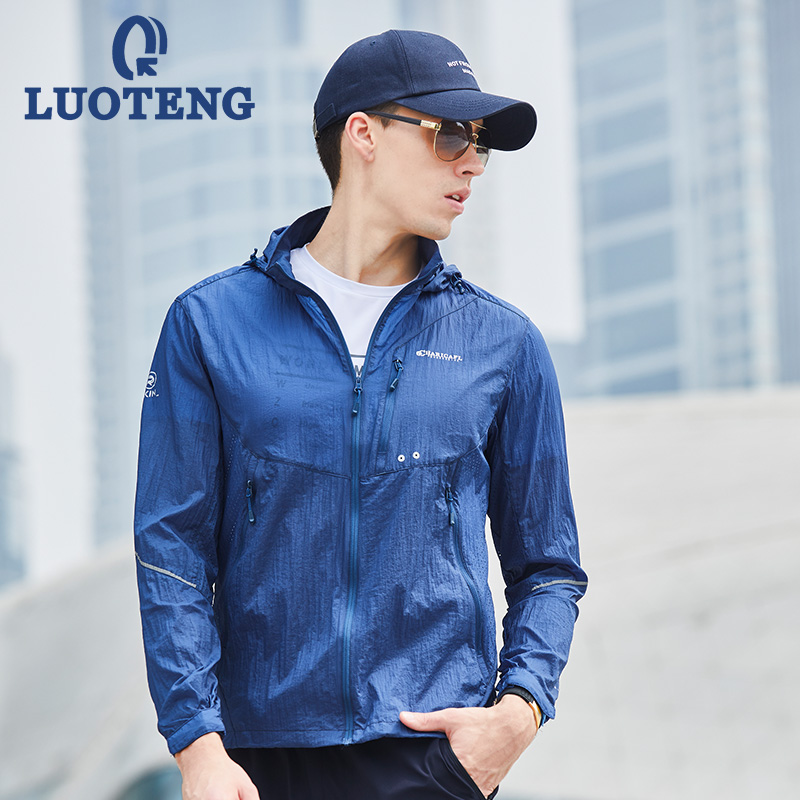 Luo Teng skin clothing outdoor spring and summer breathable sun protection clothing for men and women couple sun protection clothing thin sports skin windbreaker male