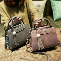 Ms. bag 2016 new winter fashion handbags handbags simple shoulder bag Messenger small bag tassel bag