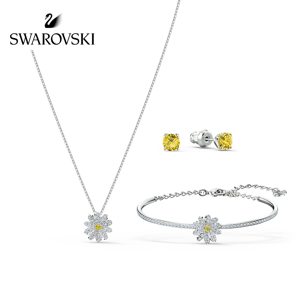 New Swarovski eternal flow love magic women Necklace Bracelet Earring Set