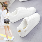 2017 female Crocs shoes in summer and autumn white shoe all-match flat Strappy shoes casual shoes Korean Students