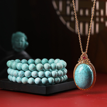 Natural crystal south red agate turquoise Hetian jade tourmaline garnet hand string female necklace live special shot 2
