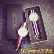 Korean minimalist fashion leisure men's watch quartz watch lovers on Li Yifeng with middle school students