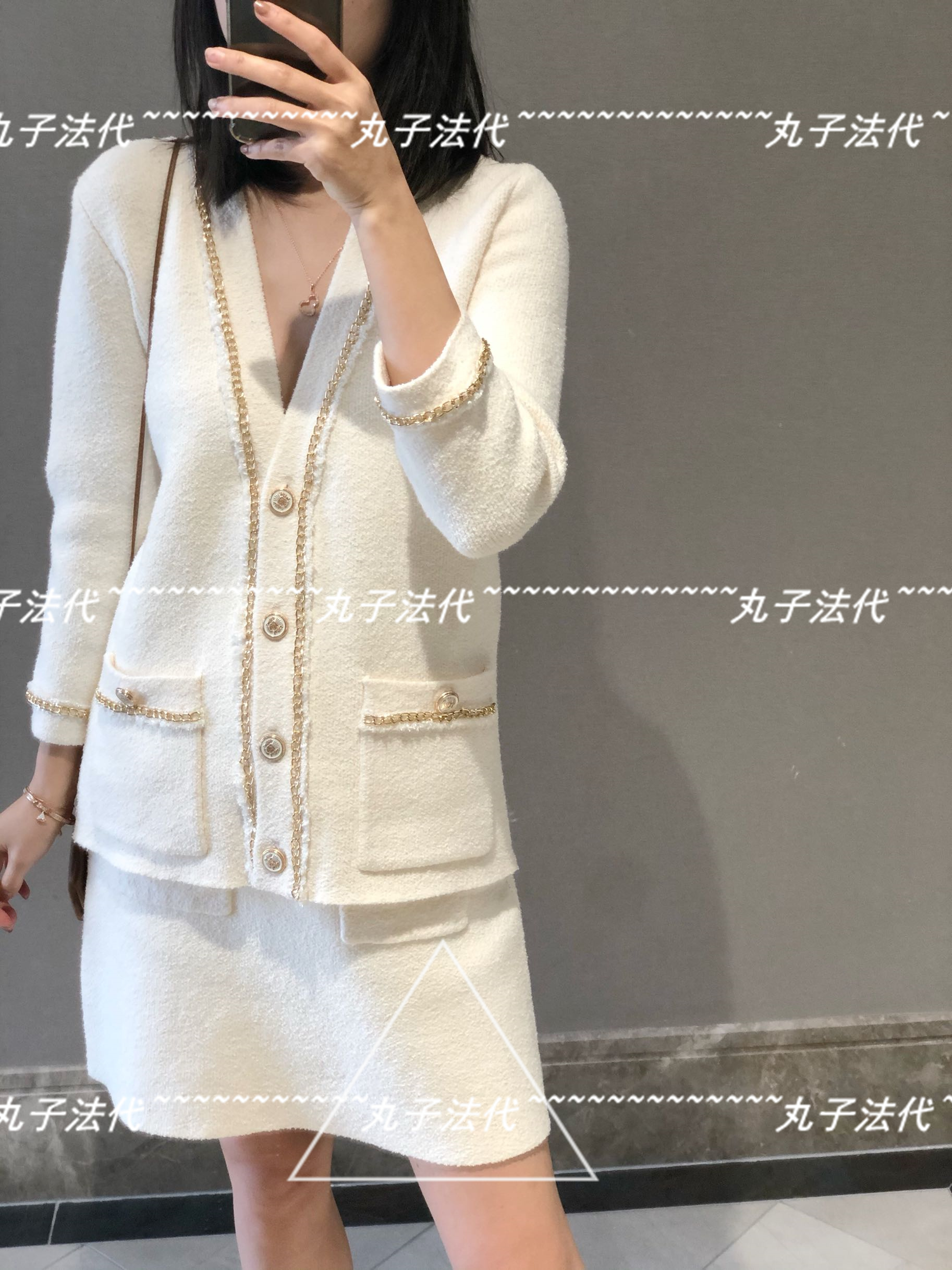 MAJE small fragrance gold silk edge decorative knitted cardigan jacket 20 early spring girl