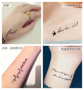 Tattoo stick waterproof men's and women's permanent English letters creative personality simulation arm clavicle ankle leg 52