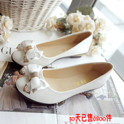 Sweet bow in autumn, small flat shoes, South Korea princess, light mouth, single shoes, low heel shoes