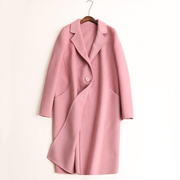 2017 new cashmere coat in the long section of high-end female cocoon type thin wool woolen coat. Slim