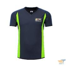 Gris vert section mince version de basket-ball arbitre vêtements chemise sueur respirant peut être personnalisé LOGO imprimé nombre