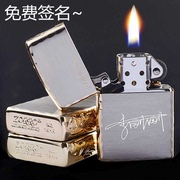 Genuine ZORRO genuine Zippo Zorro kerosene lighter wheel personalized creative custom DIY lettering send men
