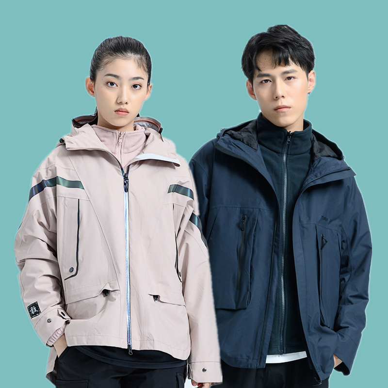 Path-finder stormtrooper mens and womens 20 autumn winter outdoor tide brand three-in-one warm jacket TAWI91499 92880