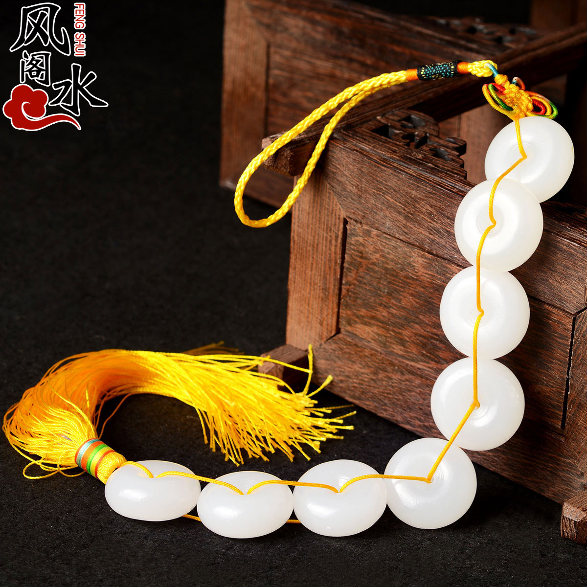 Fengshui Pavilion Babaoyu Pendant Babaoyu Ping An Button Home Decoration Ping An Hanging Home Decoration