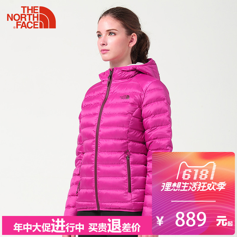 The North Face Down Coat for Female Autumn and Winter Outdoor Lightweight, Heating, Leisure, Air-breathing and Comfortable CTW0