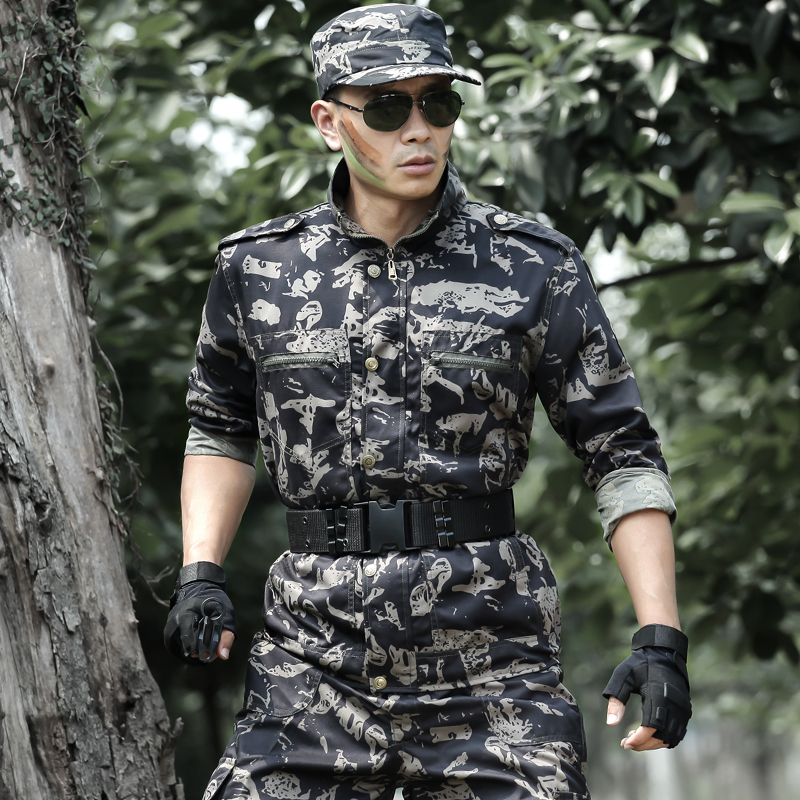 Shield Lang outdoor special forces camouflage military training uniforms military uniforms suits men and women spring and summer overalls
