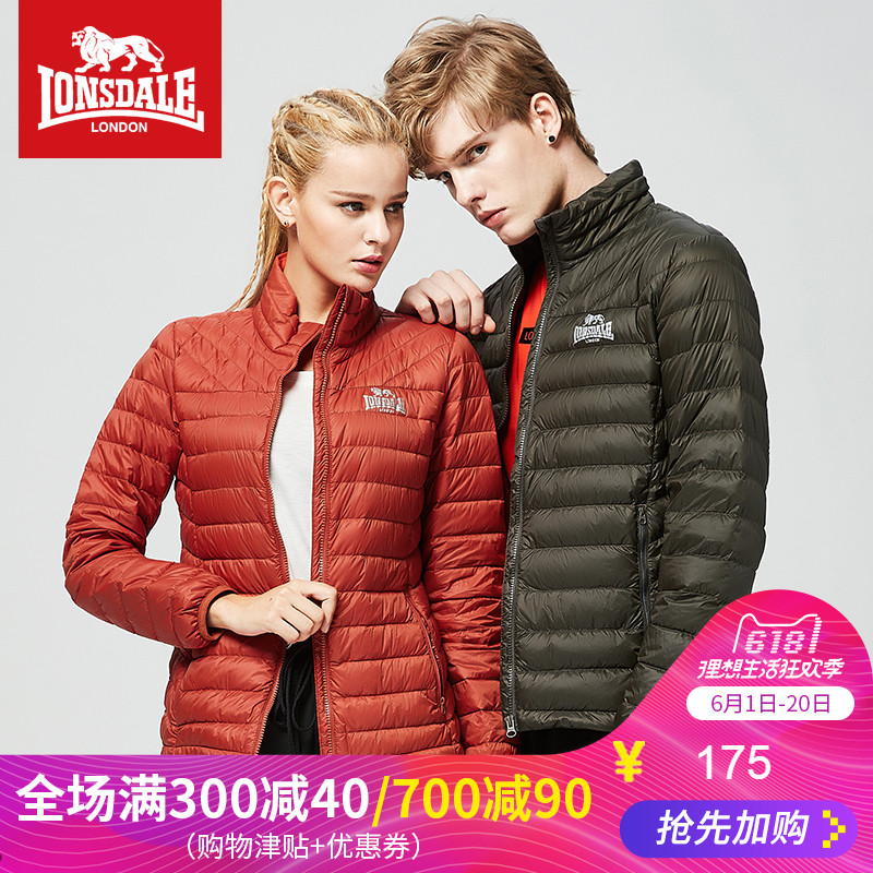 Dragon and Lion Dell Lovers'Down Dresses Men's and Women's Lightweight Collar Down Dresses Spring and Autumn Youth Down Coat