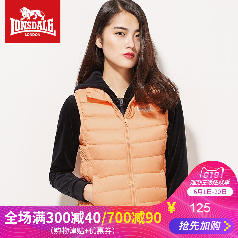Dragon Lion Dell 2017 autumn and winter new product ladies thin down jacket vest Slim jacket warm vest vest